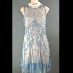 "Nataya Vintage Style Dress S Blue Gatsby 1920""s"